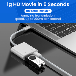 Image 5 - 2 In 1 Type C OTG Adapter 18W DP QC Fast Charge Cable Converter Type C To USB3.0/USB C Charging Splitter For Xiaomi 10 Huawei