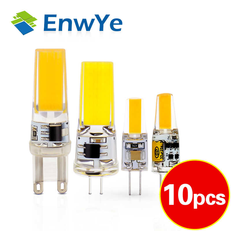 Enwye LED G4 G9 Lampu Bohlam AC/DC Peredupan 12V 220V 3W 6W Tongkol SMD lampu LED Lampu Mengganti Lampu Sorot Halogen Lampu Gantung