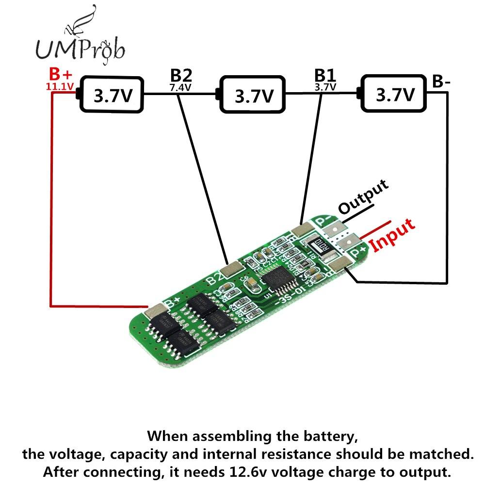 3S 6A Li-ion 12V 18650 BMS batería en pcm Placa de protección bms pcm para batería li-ion lipo F08474 IMAX RC B3 Pro Cargador Del Balance Compacto para 2 S 3 S 7.4 V 11.1 V de Litio de La Batería LiPo + Freepost