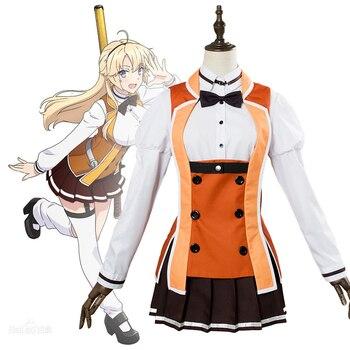 Anime Comic Katana Maidens Toji no Miko Cosplay Costumes Kohagura Eren Cosplay Costume School Uniforms Clothes Suits Dresses фото
