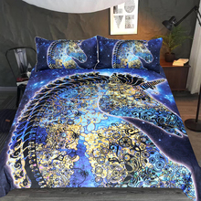 gorgeous unicorn bedding set Duvet Covers Pillowcases blue comforter sets bedclothes bed linen