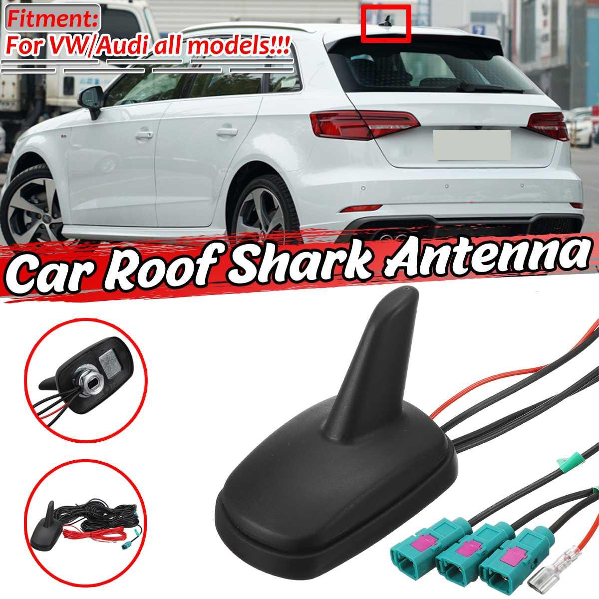 Shark Fin Roof Antenna Aerial FM//AM//GPS//GSM Car Auto Trim Decoration Universal