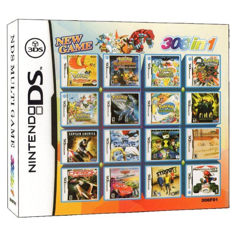 308 in 1 DS Video Spiel Karte Patrone Konsole Karte Zusammenstellung für Nintendo DS 3DS 2DS NDS NDSL NDSI|Spiel-Sammelkarten|   -