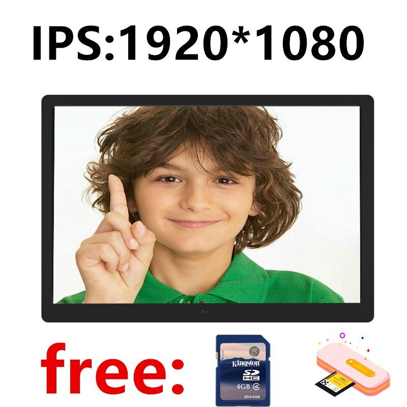 Novo 13.3/14 Polegada ips backlight hd 1920*1080 função completa moldura digital foto álbum eletrônico digitale imagem música vídeo presente