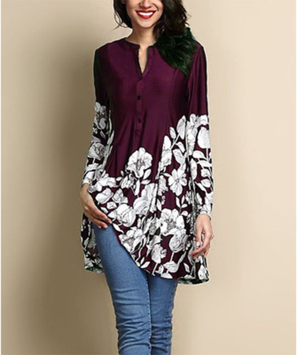 new women blouse fashion 2020 female womens top shirt ladies floral print classics comfort elegance clothing top xxl
