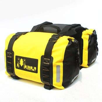 PVC 100% Waterproof Motorcycle Saddlebags Motorbike Helmet Bag Motocross Racing Backpack Travel Luggage Moto Back Seat/Tank Bags