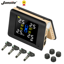 цены Jansite TPMS Wireless Car Tire Pressure Monitoring Intelligent System Solar Power LED Display with 4 Built-in or External Sensor