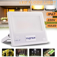 50W 220V 102LED 4000LM IP67 LED Floodlights Flood Light Outdoor Spot Lighting Lights Lamp Camping Light Warm White Cool White