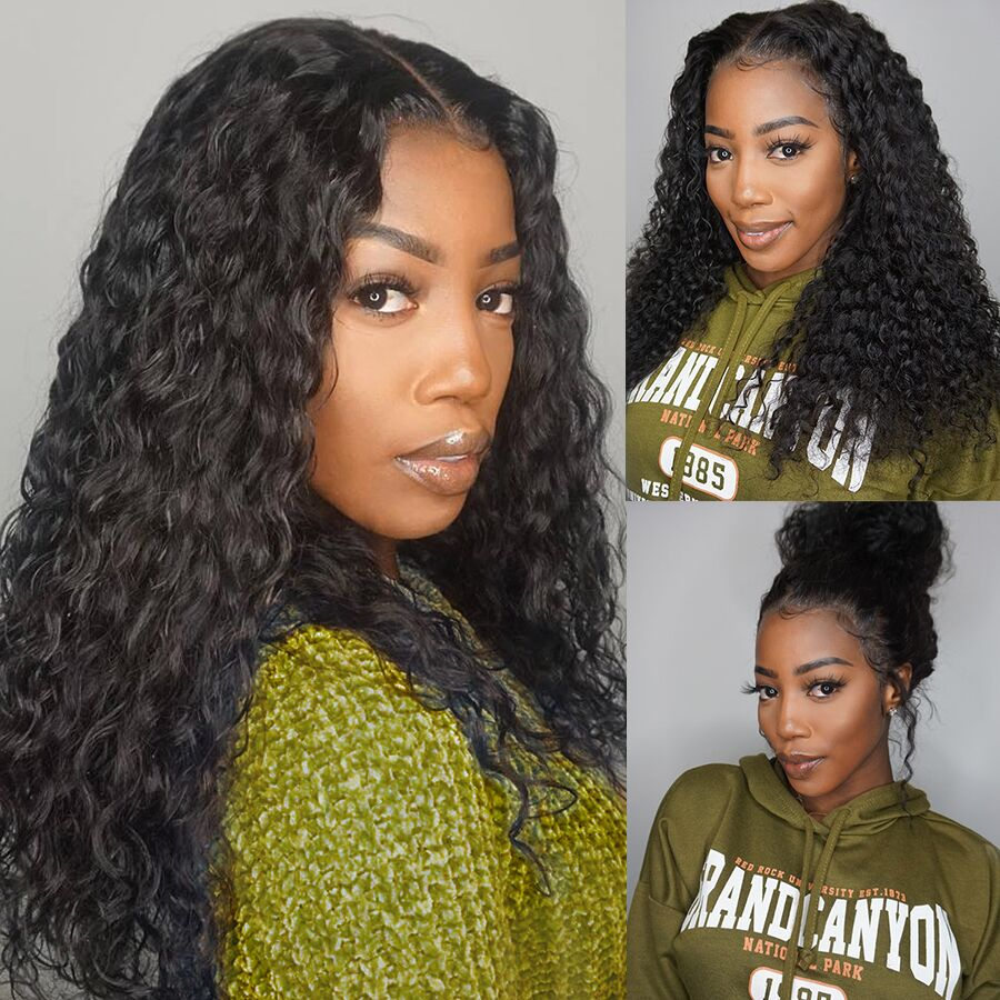 13x4 Long Big Kinky Curly Wig Lace Front Human Hair Wigs For Women Black Color Remy Brazilian Short Hair Wigs Slove