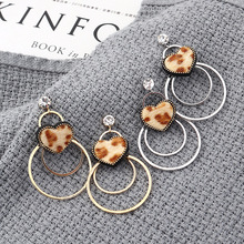 Earings New Arrival Copper Heart 2019 Edition Earrings Summertime Joker Fashion Personality Big Circle