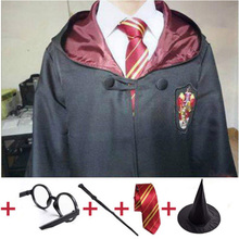 Gryffindor Cosplay Costumes Potter Cloak Clothes Slytherin Ravenclaw Hufflepuff Clothing Halloween For Kids Adult