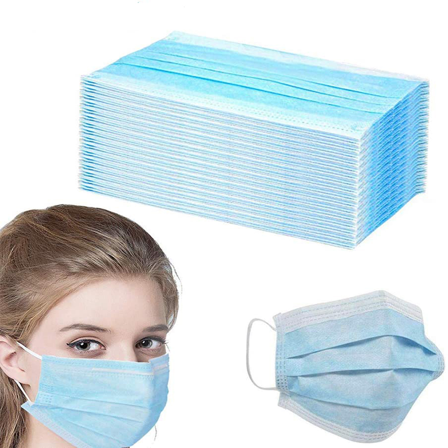 50/100/200 PCS Face Mouth Masks Disposable Mask Anti-dust Masks Face 3 Layers Earloop Mask Ship Within 24 Hours