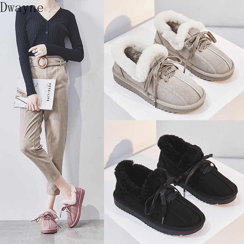 2019 winter new snow boots women fashion simple solid color thick warm and comfortable casual boots