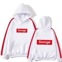 цена на 2020 New Mens Hoodies Savage Hoodies Parody No Heart X Savage Mode Slaughter Gang ATL Cotton Long Sleeved Hoodies Suprem SUPZXU