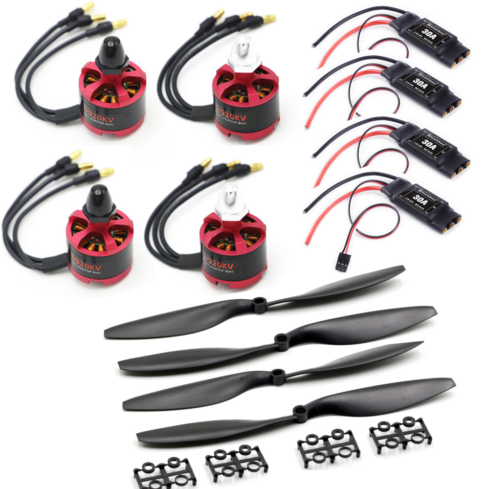 30A Brushless ESC With 3.5mm Connector 2212 920KV CW CCW Brushless Motor 1045 Propeller For F450 F550 S550 F550 Multicopter