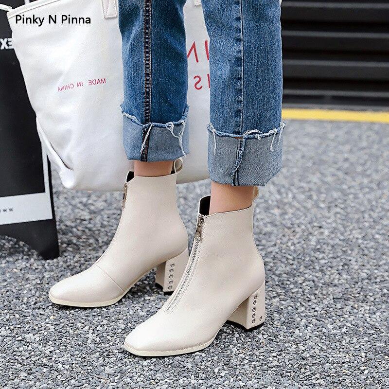 Sıcak satış büyük boy Patent deri donuk lehçe Guidi çizmeler kadın 2018 yeni stil ön fermuar yüksek topuk çizmeler title=