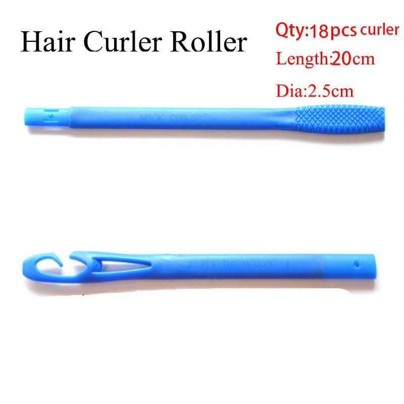 18 Pcs/set 20/30/45/55 Cm Panjang Diameter 2.5 Cm Mudah Digunakan Rambut Atlet Curling Putra Rambut Ajaib roller Ikal Spiral Roller