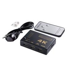 Mini HDMI Switcher 4K HD1080P 3 5 Port HDMI Switch Selector Splitter With Hub IR Remote Controller For HDTV DVD TV BOX Z2 hdmi splitter 3port 4k 2k switch selector switcher hub