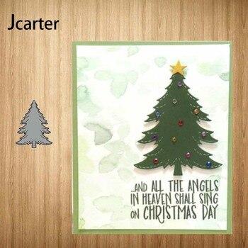 Árbol de Navidad nuevo Metal troqueles marco artesanía plantilla Diy para álbum de recortes hecho a mano tarjeta hacer forma álbum decoración modelo