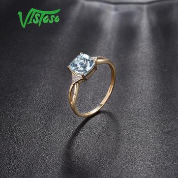 585 Yellow Gold Blue Topaz Ring 5