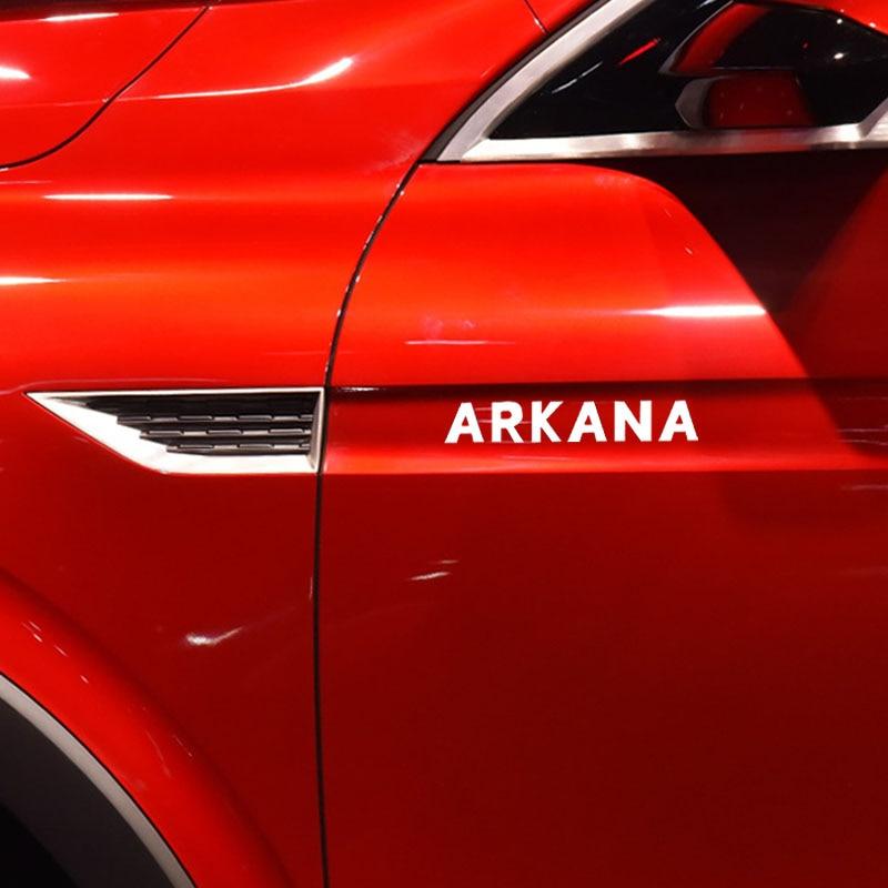 4 Pcs Window Vinyl Decals Car Styling Self Adhesive Emblem Car Stickers For Renault Arkana