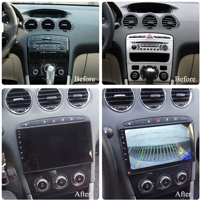 For Peugeot 308 408 2007-2014 Car Multimedia Player Android 10.0 Gps Bluetooth Navigation Stereo Tape Recorder Radio Head Unit