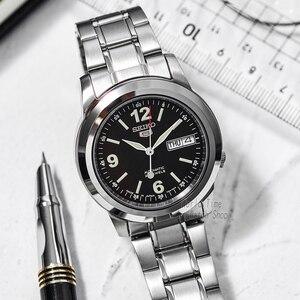 Image 3 - Seiko relógio masculino 5 automático, relógio esportivo de luxo à prova dágua mecânico militar