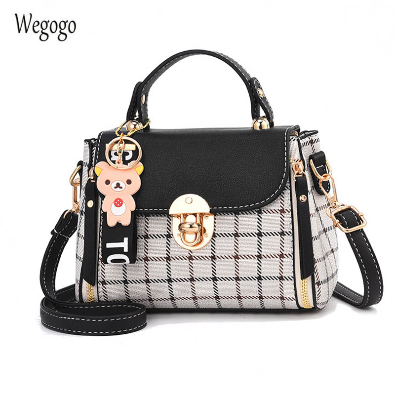 2020 New Cute Ladies PU Handbag Leather Totes Candy Color Casual Fashion Travel Beach Bags Small Shouder Messenger Bag