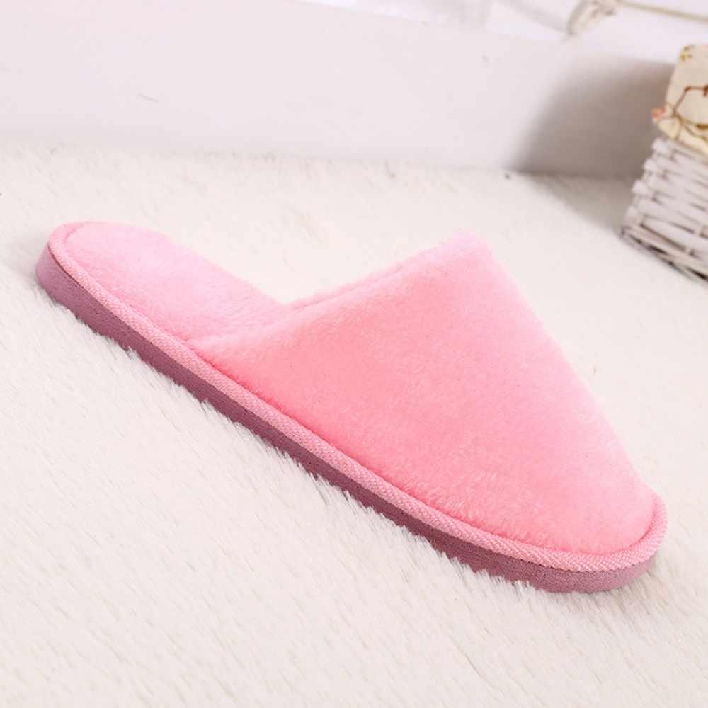 YOUYEDIAN Donne di Casa Calda Molle Della Peluche Pantofole In Casa antiscivolo Inverno Piano Camera Da Letto Scarpe di Marca Di Lusso 2019 zapatos de mujer #9
