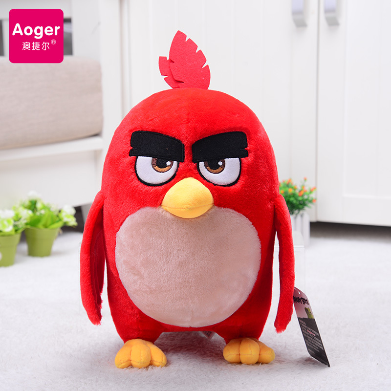 Genuine Movie The Angry Birds Plush Toys Soft Stuffed Red Bomb Chuck Leonard Figures Kawaii Gift For Kids  7inch 9inch