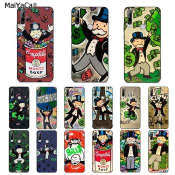MaiYaCa Cartoon Dollar Monopoly Bling Cute Phone Case for huawei Y 7S 7 PRO 9 6 Y5 PRIME 2018 Y7 9 5 6 PRO 2019 image