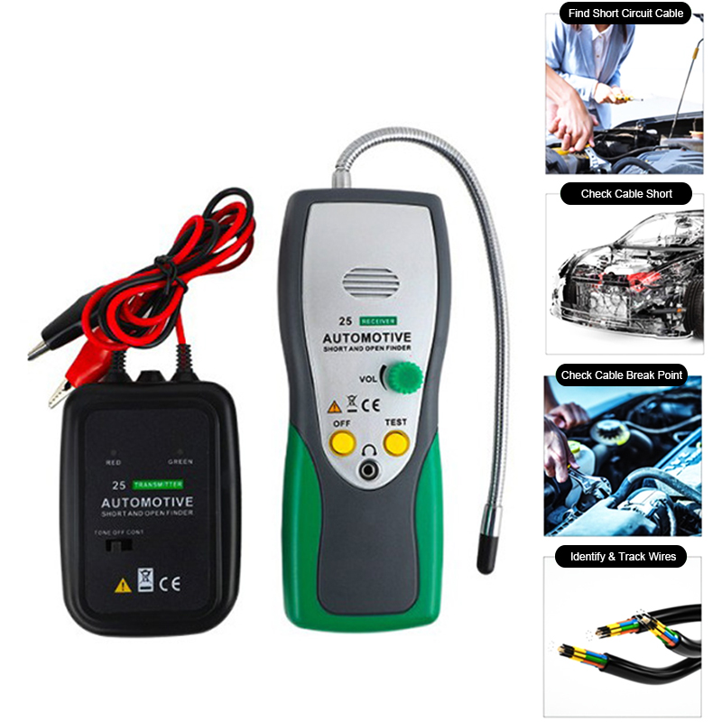 Car Automotive Short  amp  Open Finder Circuit Finder Tester Electric Cable Finder Car Repair Tool Detector Tracer For Wire Or Cable