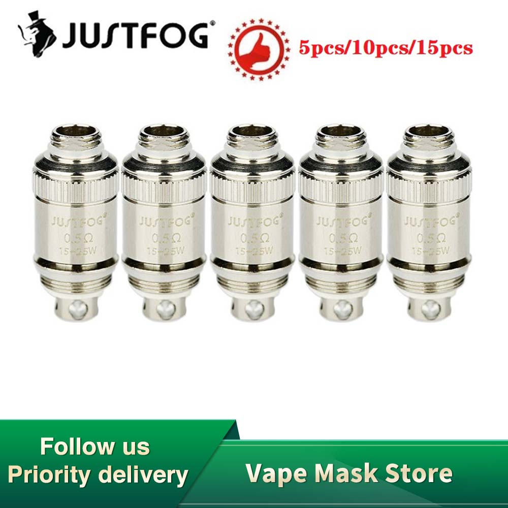 5/10/20pcs Original Justfog Fog 1 Coil Head 0.5ohm 0.8ohm Electronic Cigarette Core Replacement Coil Head Anti-spit Coil Justfog