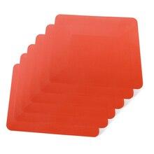 EHDIS 6pcs Window Wash Card Plastic Scraper Vinyl Film Wrapping Soft Squeegee Carbon Fiber Tint Sticker Remover Clean Car Tools