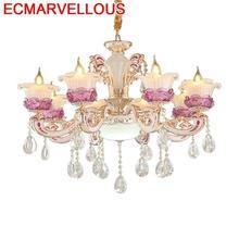 Sala De Jantar Loft oświetlenie oprawa Pendelleuchte strona główna kryształowa lampa wisząca Luminaria Deco Maison Lampen nowoczesna lampa wisząca