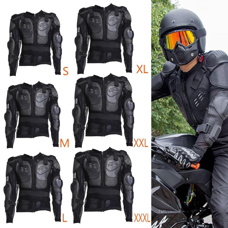 Motorcycle Armor Jacket Full Body PE Armor Shirt Jacket Body Back Shoulder Protection Jacket Vest Colete With Reflective Strip