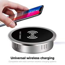 Universal Qi Wireless Charger Stand 15W 7.5Wหรือ5W Dock Embedded Qiการชาร์จTransmitteสำหรับiPhone Samsung
