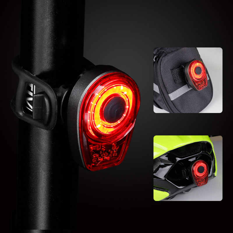 Bicycle Rear LED Tail Light Taillight Safety Cycling Lamp Bike USB Recharge COB