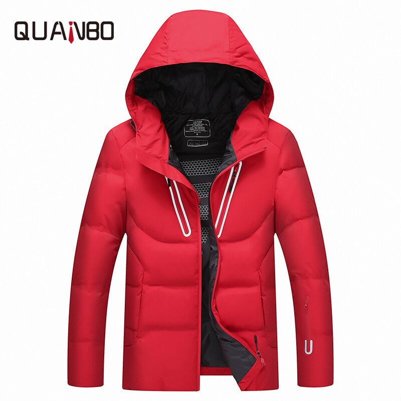 2019 winter new down jacket men's bread service Young student snow warm coat Snow white duck down hooded quality men's clothing