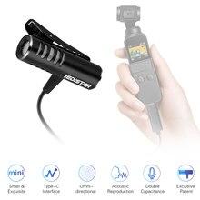 Mini micrófono de condensador Dual, Cable 3M con interfaz tipo C de repuesto para DJI OSMO Pocket/OSMO Pocket 2, Cámara de Acción