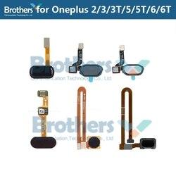 Cho Oneplus 2 3 3 5 5T Vân Tay Cáp mềm 1 + 3 6 6t cho OnePlus 5 5T Nút Home Cảm Biến Máy Quét Cáp mềm Điện Thoại Thay Thế