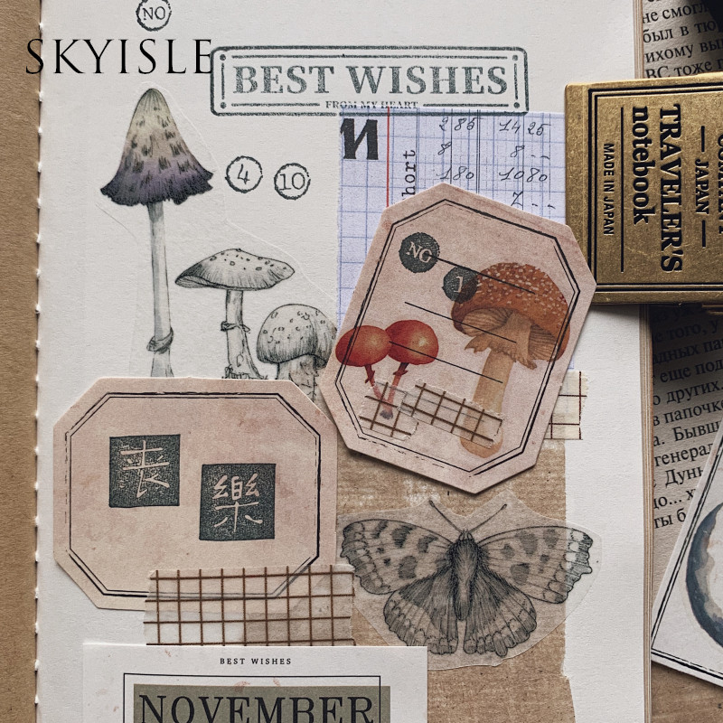SKYISLE Inspiration rushes VOL.1 Morandi color daily payment pocket diy decoration month label non-sticky note paper