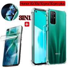 pro stp 30s (3in1) honor 30 30s 30 pro plus Airbag case+hydrogel film+lens film for HUAWEI HONOR30 30s 30pro shockproof case honor30 s 30pro
