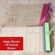 Telescopic Household Floor Sweeper Carpet Cleaner Miracle Rubber Pet Hair Broom Magic Broom Mop for Wash Floor Window Cleaner