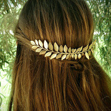 Fashion Retro Hair Band Female Wedding Metal Gold Leaf Leaves Girl Bride  Accessories