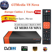 GTMedia V8 Nova Digital DVB-S2 receptor de satélite H.265 incorporado WIFI Full HD Freesat España decodificador de TV PK GT medios V8 V9 Super(China)