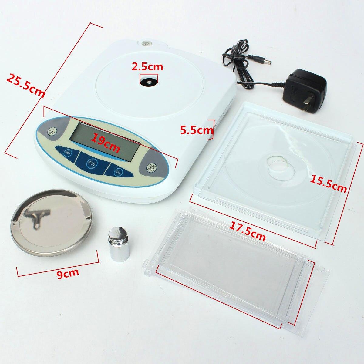 100x0.001g 1mg numérique LCD laboratoire laboratoire Balance analytique électronique bijoux Balance Mini Portable Balance de poids 100g - 6