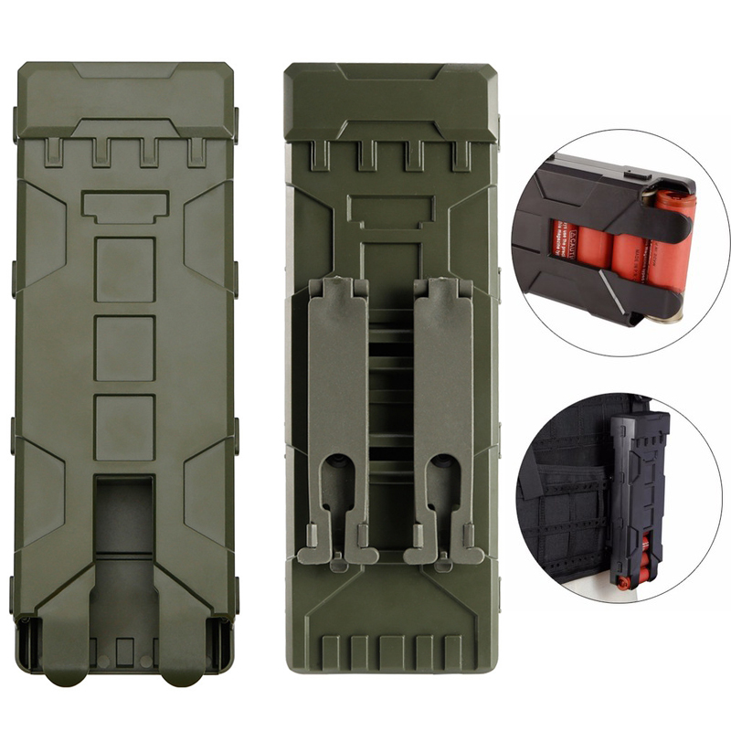 Tactical Shotgun Magazine Pouch Airsoft Paintball 10 Rounds 12 Gauge Reload Ammo Shells Molle Magazine Box image