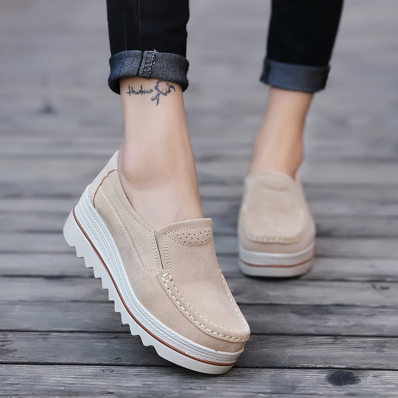 Women Casual Shoes Loafers  New Round Toe Solid Female Sneakers Breathable Women Shoes Flats Plus Size Zapatos De Mujer Yyy78