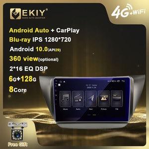 Multimídia de rádio do carro de ekiy blu-ray ips dsp android 10 para mitsubishi lancer ix 2006-2010 jogador de vídeo estéreo de navegação gps bt hu